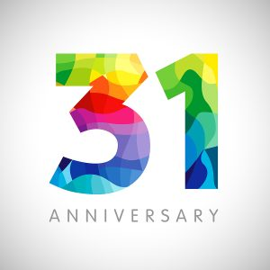 31st anniversary in business